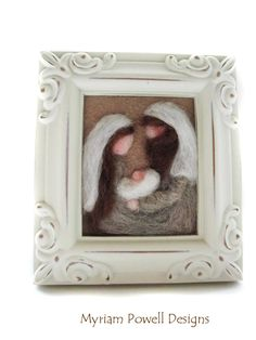 Nativity - Christmas Nativity - Felted Nativity - Nativity Fiber Art on Etsy, $22.00