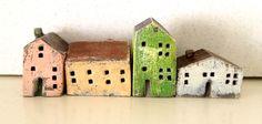 miniature ceramic houses