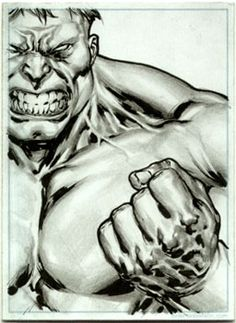 Hulk - Sketch Card Comic Art