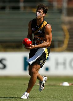 Alex Rance of the Richmond Football Club at training in January 2014.