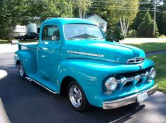 1951 Ford truck with lake pipes, i would only want one if it was original paint and distressed, only want the interior and engine redone.