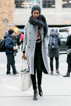 See a supersized slideshow of NYFW models off duty — total outfit inspo.