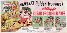 There's something I really love about the original character design of Tony the Tiger that later day versions lacked http://en.wikipedia.org/wiki/Tony_the_Tiger