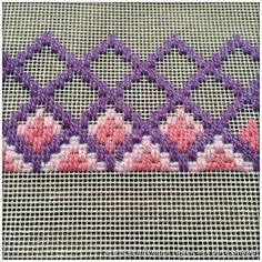 bargello embroidery patterns - start at 18 holes up. Broderie Bargello, Bargello Needlepoint, Bargello Quilts, Needlepoint Stitches, Cross Stitches, Hardanger Embroidery, Cross Stitch Embroidery, Embroidery Patterns, Hand Embroidery