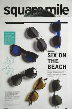 03e840e760 Square Mile Magazine choose the Voyager Tortoiseshell in Acetate sunglasses  by Taylor Morris for summer.