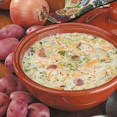THE BEST potato soup recipe ever!