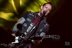 Volbeat live on stage at With Full Force XXI, Flugplatz Roitzschjora, July 4th 2014 back
