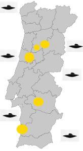 Onda de OVNIs em Portugal, do norte ao sul