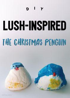 DIY The Christmas Penguin Bubble Bar | LUSH-Inspired