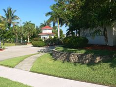 The entrance to Caloosa Creek in Fort Myers, Florida developed by Daniel Wayne Homes. Caloosa Creek was another neighborhood of exclusively Old Florida Style homes.