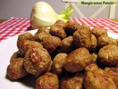 Polpettine carne e finocchio senza uova o olio