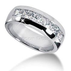2 Carat T.W. Round Cut Diamond Matching Trio Wedding Ring Set 14K ...