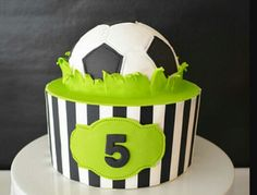 Soccer cake idea 6