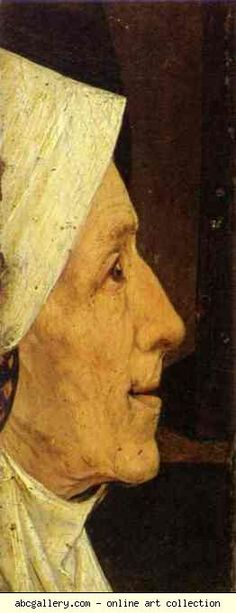 Hieronymus Bosch. Head of a Woman (fragment). Oil on panel. Museum Boymans-van Beuningen, Rotterdam, Netherlands. This is the only surviving part of what is presumed to be a larger painting.