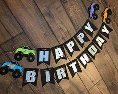 3rd Birthday Party For Boy, Truck Birthday Cakes, Diy Birthday Banner, Race Car Birthday, Monster Birthday Parties, Lego Birthday, Transportation Birthday, Birthday Ideas, Festa Monster Truck