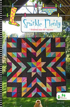 "Sparkle Plenty by Loft Creations Charm Pack & Scrap Friendly 48"" Square LC-113"