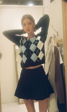 Preppy Outfits, Preppy Style, Cool Outfits, Fashion Outfits, Aesthetic Fashion, Aesthetic Clothes, Brandy Melville Outfits, Looks Pinterest, Look Vintage