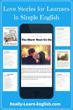 Love Stories for Learners in Simple English (Stories, Glossary, Exercises, Answer Key) English Short Stories, English Story, English For Beginners, Improve Your English, English Love, Learn English, English Vocabulary, English Grammar, English Language