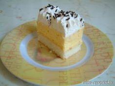Madártej szelet recept fotó