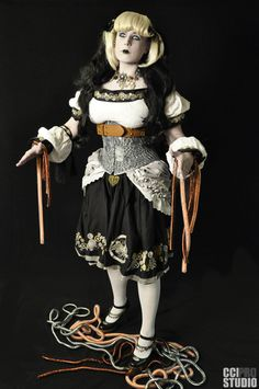 Illsabelline the Steamwork Doll - Embroidered Costume