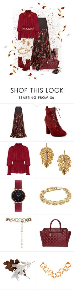 """""""Blustery Day"""" by shelley-harcar ❤ liked on Polyvore featuring Giambattista Valli, Elie Saab, Marika, Abbott Lyon, Calvin Klein, Topshop and Michael Kors"""