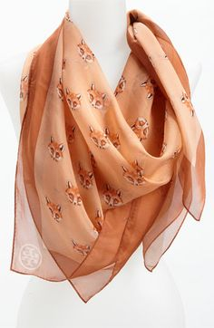 Tory Burch 'Foxy' Silk Chiffon Scarf available at #Nordstrom  Love love love $$$ waiting for sale sale sale