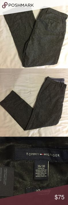 Charcoal Wool Pants by Tommy Hilfiger (36W x 30L) Wool pants in excellent condition by Tommy Hilfiger.  There are no holes, stains, or defects.    All products* sold by super22saver55 are pre-washed using Tide Pods, Downy Unstoppables, and Oxygen Orange for your convenience.  *Not including NWT products, products made of wool or sports wear.     *Sports wear products are washed with detergent and vinegar or baking soda. Tommy Hilfiger Pants Dress