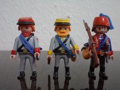 Confederate Artillery, Cavalry & Zouave