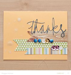 Thanks Card by maggie holmes at @Studio_Calico