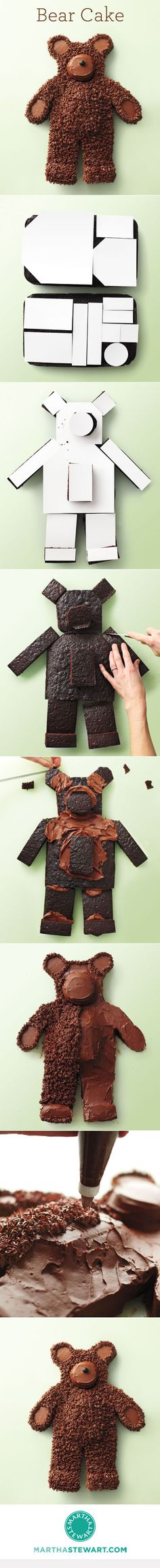 How to Make a Bear Cake.... May need this for the grands someday