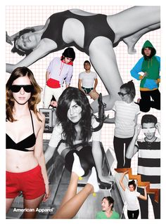 Collage Art by #AmericanApparel.  #advertisements #collages