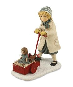 Shelley B Home and Holiday - Wendy Pulling Cart Winter Children by Bethany Lowe, $25.50 (http://shelleybhomeandholiday.com/wendy-pulling-cart-winter-children-by-bethany-lowe/)
