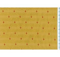 Petite Fleur De Lis Mustard Jaq 330 - French Country - Fabric -The Fabric Mill