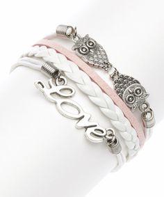 Pink Love Braided Bracelet