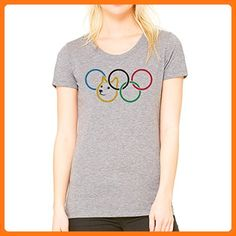 Olympic Olympischen Rings Doge Dog Meme Small Damen T-Shirt (*Partner Link)