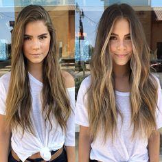 Face Frame & Fabulous 🙌🏻 Hair by Sara May Balayage Hair Brunette With Blonde, Brown Hair With Blonde Highlights, Hair Highlights, Face Frame Highlights, Front Highlights, Bangs Wavy Hair, Long Hair With Bangs, Haircuts For Long Hair, Blonde In Front