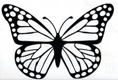 drawing butterfly butterflies easy vinyl sticker decal window decals hippie coloring stickers drawings pages template stencil painting simple printable animal