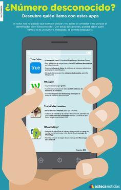 ¿Número desconocido? Descubre quién llama con estas apps #infografia
