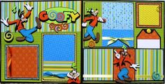 Disney GOOFY Scrapbook Pages