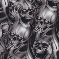 Top 9 Scary Demon Tattoo Designs for Men Evil Skull Tattoo, Evil Tattoos, Skull Sleeve Tattoos, Demon Tattoo, Skull Tattoo Design, Body Art Tattoos, Scary Tattoos, Samurai Tattoo, Modern Tattoo Designs