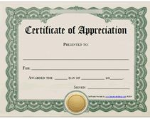 printable certificates of appreciation  Certificate of Appreciation for MS Word DOWNLOAD at http ...