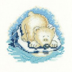 Paula Bear(SHPB1387) Polar Bear cross stitch kit by Heritage Crafts. Part of their 'Simply Heritage' range. The design used whole cross stitches only so may be suitable or beginners/newcomers to cross stitch depending on their ability. Contents: 14 count aida fabric, DMC threads, needle, chart and full instructions. Approx. Size: 9.5cm x 9cm *Please allow upto 7 working days for dispatch*