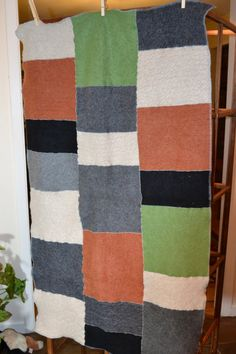 upcycled felted cashmere blanket