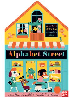 Buy Alphabet Street by Jonathan Emmett at Mighty Ape NZ. Life is very busy on Alphabet Street. Open each page to see the shop fronts, then lift the flaps to peek inside each shop and the rooms above. Best Children Books, Childrens Books, Book Cover Design, Book Design, Crow Books, Kid Books, Library Books, Concertina Book, Jüngstes Kind