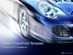 Free Car Speed PPT Template