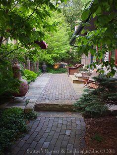 Minnesota Landscape Design inspired by Bali ~ Antique Clay Paver Walk & Patio / Blue Stone Raised Patio / Chilton Stone Wall & Step, via Flickr.