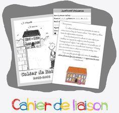Cahier de liaison : page de garde, justificatifs d'absences et autres documents...