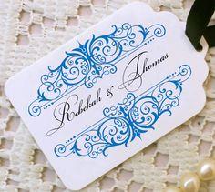 Wedding Monogram Favor Tags