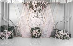 37 Trendy Decor Wedding Stage Ceremony Backdrop You are in the right place about wedding decorations purple Here we offer you the most beautiful pictur Wedding Backdrop Design, Wedding Stage Design, Wedding Stage Decorations, Ceremony Backdrop, Flower Decorations, Wedding Designs, Wedding Styles, Wedding Ceremony, Decor Wedding