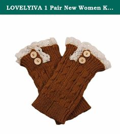 LOVELYIVA 1 Pair New Women Knit Lace Boot Cuffs Socks Buttons Leg Warmers Accessory Knitted Gaiters (Yellow). Note: 1. Due to the difference between different monitors, the picture may not reflect the actual color of the item. We guarantee the style is the same as shown in the pictures. 2. All dimensions are measured by hand, there may be 2-3 cm deviations. guarantee the style is the same as shown in the images Package contents: 1PC scarf Women (without retail package) Shipping: item will…
